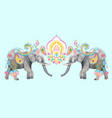 watercolor elephant vector image vector image