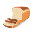 Wheat sliced bread icon cartoon style vector image vector image