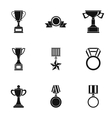 Win icons set simple style vector image vector image