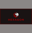 yy hexagon logo design inspiration vector image vector image