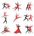 Icons dancing vector image