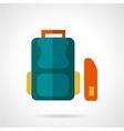 School bag flat icon vector image