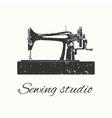 sewing studio emblem vector image