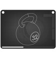 3d model of weight on a black vector image vector image