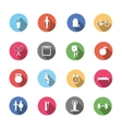 A set of colorful icons isolated healthy lifestyle vector image