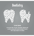 A tooth and destroy the tooth of the circles vector image
