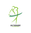 abstract golf tournament logo vector image vector image