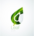 Abstract leaf company logo nature logotype idea vector image vector image