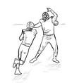 an a football players vector image vector image
