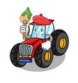 artist tractor character cartoon style vector image