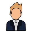 avatar judge man icon vector image vector image
