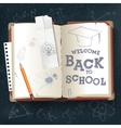 Back to School open book vector image