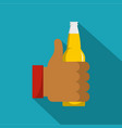 beer icon flat style vector image vector image