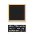 black letter board vector image vector image