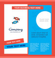 candy company brochure template busienss template vector image vector image