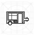 caravan trailer home icon vector image vector image