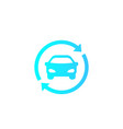carsharing rental service logo icon vector image vector image