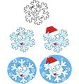 Cartoon snowflakes vector image vector image
