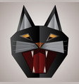 cat s muzzle mouth and head of a black cat vector image vector image