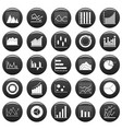 chart diagram icon set vetor black vector image vector image