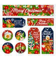 christmas gift tag and holiday greeting banner vector image vector image