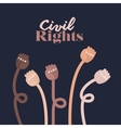 civil rights design vector image vector image
