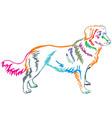 colorful decorative standing portrait of nova vector image vector image