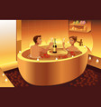 couple enjoying a romantic bath vector image vector image