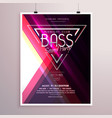 creative music party flyer poster event vector image vector image