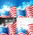 creative set of american flag design of 4th july vector image vector image