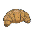 croissant bakery product sketch vector image