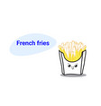 cute hot potato free french fries cartoon comic vector image vector image