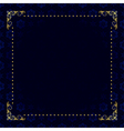 dark blue card with gold frame vector image vector image