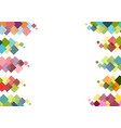 decorative frame with colorful squares vector image