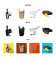 design of food and drink symbol collection vector image