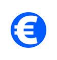 euro glyph icon vector image