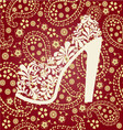fashion pattern Shoes on a high heel vector image vector image