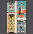 fishing rod fish and seafood fisherman shop vector image