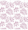 floral pattern seamless leaves and branch vector image