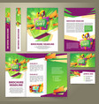 flyer for sales promotion brochure vector image vector image