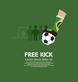 Free Kick vector image