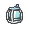 funicular railway ski lift icon cartoon vector image