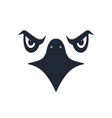 furious eagle face vector image vector image