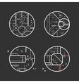 Futuristic design elements vector image vector image