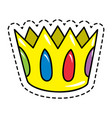 golden crown with colored gems flat isolated vector image