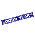 good year scratched rectangle stamp seal with vector image vector image