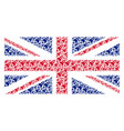 great britain flag pattern of space rocket launch vector image vector image