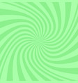 green abstract spiral background - design vector image vector image