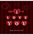Greeting card I love you happy Valentine Day vector image vector image