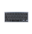 grey plastic keyboard with black buttons vector image vector image